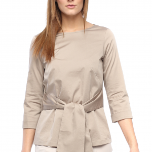 Bluse Christy taupe Front Gesamtansicht