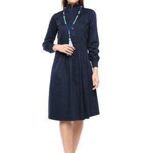 Kleid Renata marine Front Gesmatansicht