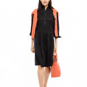 Kleid Renata schwarz Front Gesamtansicht