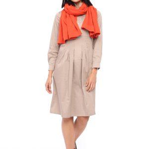 Kleid Renata taupe Front Gesm´amtansicht