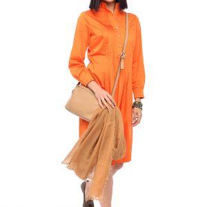 Kleid Renata terracotta Front Gesamtansicht