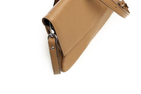 Lederhandtasche Clarissa camel Detailansicht