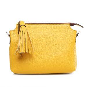 Lederhandtasche Isabella ananasgelb Gesamtansicht