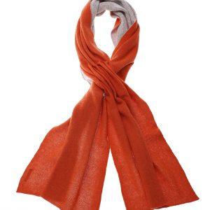 Strickschal Gilda orange Gesamtansicht