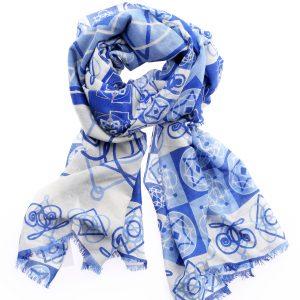 Wollschal Alina blau