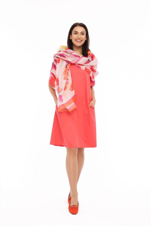Kleid Sasa koralle Gesamtansicht