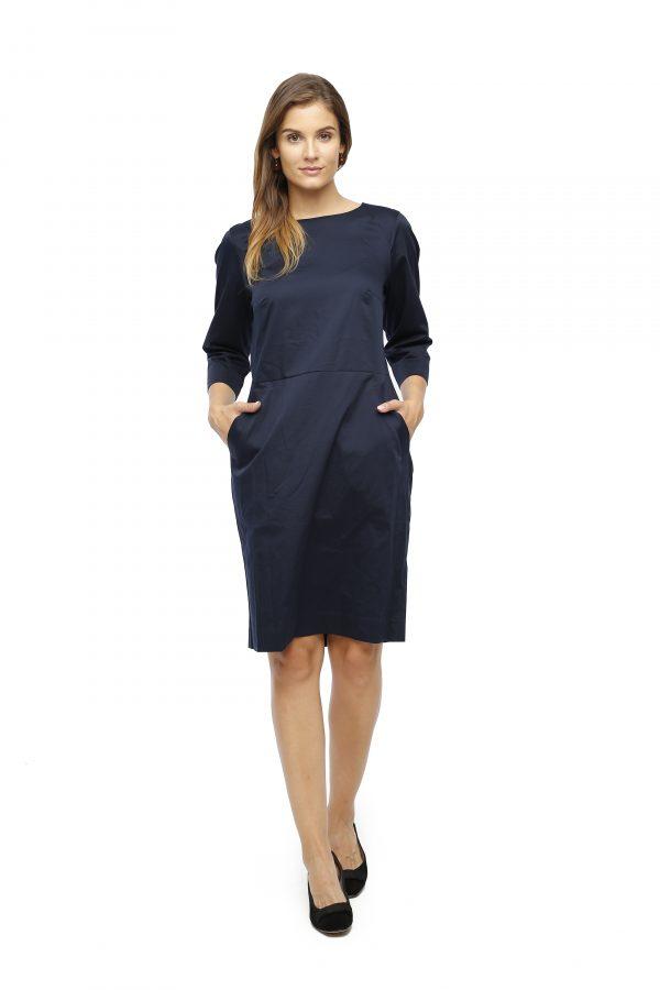 Kleid Saskia marine Gesamtansicht