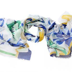Modal Leinenschal Beatrix blau Gesamtansicht