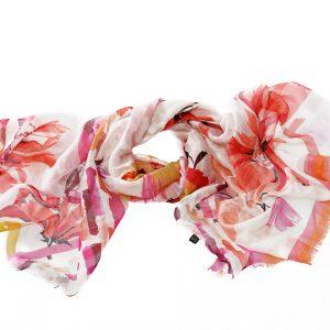 Modal Leinenschal Beatrix pink Gesamtansicht