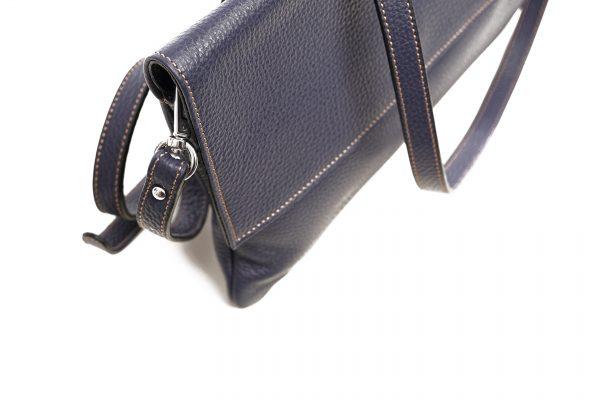 Lederhandtasche Clarissa dunkelblau Detailansicht