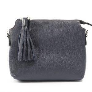 Lederhandtasche Isabella dunkelblau Gesamtansicht