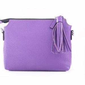 Lederhandtasche Isabella lila Gesamtansicht