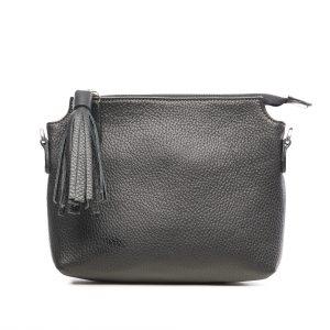 Lederhandtasche Isabella schwarz Gesamtansicht
