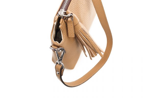 Ledertasche Isabella camel Detailansicht