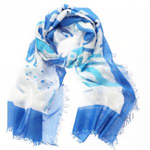 Schal Franka blau Gesamtansicht