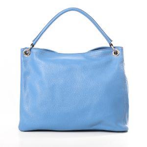 Lederhandtasche Aurelia groß hellblau Gesamtansicht