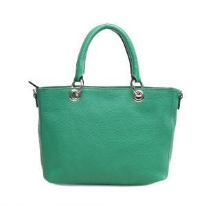 Lederhandtasche Elena grün Gesamtansicht